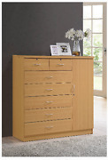 Wood Bedroom Dresser Tall Chest Of Drawers Xl Wooden Cabinet Clothes Organizer