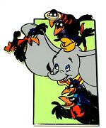 Rare Jumbo Le100 Disney Auctions Pin✿ Dumbo Elephant Crows Feather You Can Do It