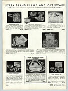 1939 Paper Ad Pyrex Brand Flame And Oven Proof Ovenware Porcelain Baking Dish