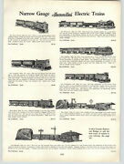 1931 Paper Ad 5 Pg American Flyer Electric Toy Train Sets Wide Narrow Gauge