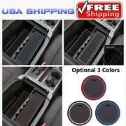 Fits 2015 2016 Ford F-150 4dr Non-slip Door Groove Mats Rubber Cup Slot Pad Kits