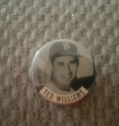 Vintage 1950s Boston Red Sox Ted Williams 1 1/2 Inch Stick Pin Button.