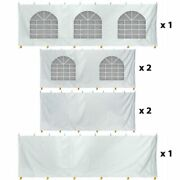 30x40 Tent Sidewall Kit 7and039h Solid And Cathedral Window 14 Oz Vinyl Enclosure Panel