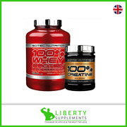 Scitec Nutrition 100 Whey Protein Isolate Concentrate 2.3kg +free Creatine 300g