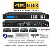 4x8 Hdr 18gbps Hdbaset 4k Matrix Switcher 4x4 With 4 Receivers Hdmi 2.0