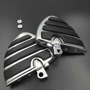 Chrome Wing Footpeg Rest For Harley Sportster Xl 883 1200 Xlh Super Low Deluxe
