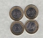 Four Monaco 2002 One Euro Coins In Near Mint Condition