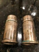 Antique Sterling Silver Salt And Pepper Shakers 900