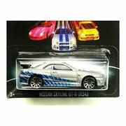 [ 2013 ] Hot Wheels Fast And The Furious 3/ 8 Nissan Skyline Gt-r R34 Parall