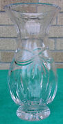 Beautiful Crystal 10 Tall Vase Vintage Collectible Waterford Happy Anniversary
