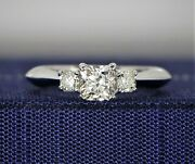 4500 Hearts On Fire 18k White Gold Dream Cut Diamond Radiant Engagement Ring