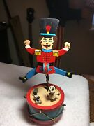 Vintage Animated Wind-up Wooden Toy. Cute. Good Condition. Soldier Drummer.