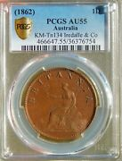 Australia 1 Penny 1820 1862 Penny Pcgs Au55 Tn 134 Iredale And Co Token Coin