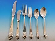 Orchid Elegance By Wallace Sterling Silver Flatware Set For 8 Service 54 Pieces