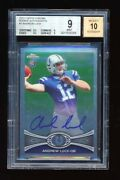 Bgs 9 Andrew Luck 2012 Topps Chrome Short Print Sp On Card Autograph Auto Rc Wow