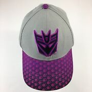 Transformers Movie Baseball Youth Hat Embroidered Gray And Purple Kids Ball Cap
