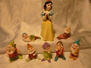 Vintage Collectable Snow White And The Seven Dwarfs Figurines