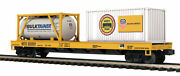 Mth Premier O 818911 Union Pacific Flat Car W' 20' Container And A Tank 20-95295