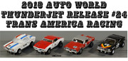 Auto World 4 New T-jets Release 24 Trans America Racing Fits Aurora Aw Jl
