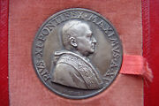 Pius Xi 1936 Medal Year Xv Opus Mistruzzi Religious Old Holy Papal Medal In Box