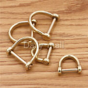Solid Brass D Bow Shackle Screw Pin Joint Connect Key Chain Hook Anchor Chains