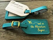 50caribbean Blue Wedding Escort Luggage Tags Quote23 In Gold 2.35 Each