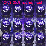 12pcs 360w Rgbw Zoom Moving Head Wash Stage Light Dmx Band Party Touch Screen Us