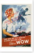 World War Ii Rosie The Riveter Shes A Wow Woman Ordnance Worker Poster