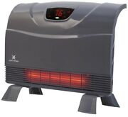 Heat Storm Electric Heater 1500 W Portable Floor Wall Mountable Thermostat Gray