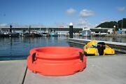 4-piece Pile Ring 750-orange - All-tide, All-weather, Boat Mooring Device