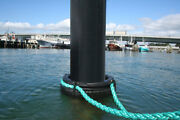 4-piece Pile Ring 750-black - All-tide, All-weather, Boat Mooring Device