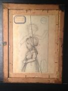 Double-sided Drawing Hunt Scene Girl Study Augustin Dupre 1748-1833 France