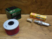 85-86 Honda Atc350x Spark Plug And Oil Filter Dr8es-l / Hf112 Fast Free Shipping