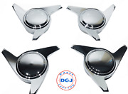 3 Bar Smooth Chrome Knock-off Spinner Caps For Lowrider Wire Wheels M
