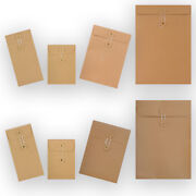 Manilla String And Washer Bottom And Tie Brown 10 25 50 100 Envelopes Cheapest