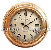 17 Nautical Brass Wall Clock Made For Franklin And Murphy Shipand039s Beach Home Decor