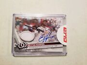 2017 Topps Christmas Walmart Bryce Harper Game Used Jersey Auto 1/3 Sp