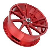 22 Strada Sega Candy Apple Red Wheels Rim And Tires Fit 300 Charger Camaro 5 X115