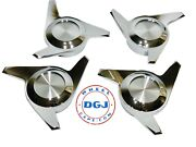 3 Bar Cut Chrome Knock-off Spinner Caps For Lowrider Wire Wheels M