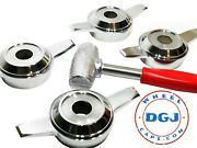 Zenith Cut Chrome Spinners And Red Lead Hammer For Lowrider Wire Wheels M