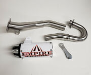 Honda Trx 450r Empire Full Shorty Aftermarket Exhaust System White Pipe 06-14