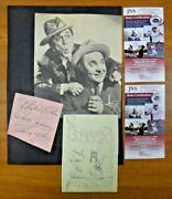 1946 Ole Olsen And Chic Johnson Signed W/ Sketch Both Autographs Comes W/ Jsa Coa
