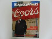 Molson Coors Chairman Pete Coors Hand Signed Magazine Cover Todd Mueller Coa