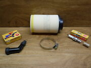 85-86 Honda Fourtrax 125 Tune Up Kit Quality Air Filter Spark Plug Coil Cap Boot