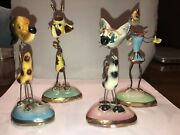 Vintage Disney Ceramic Wire Figurines Made In Italy