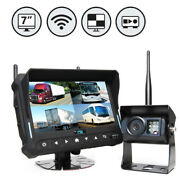 Rearview Safety Wireless Backup Camera System 7 Quad View Display W/builtin Dvr