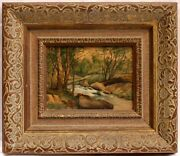 Magnificent 1950and039s Oil On Board Painting By John Fabion Listed Artist