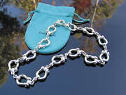 And Co Silver Rare Horse Shoe Horseshoe Link Necklace