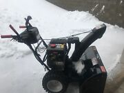 Used Two Stage Black Gas-powered Snow Blower From Craftsman.
