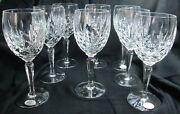 Set Of Eight West Germany Gorham 7 5/8 High Lady Anne Crystal Wine Goblets